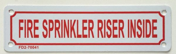 FIRE SPRINKLER Sign White