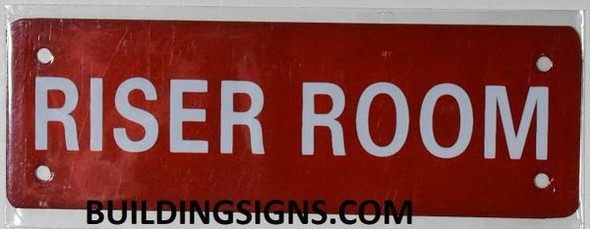 Riser Room Sign (Aluminium Reflective !!!, RED)