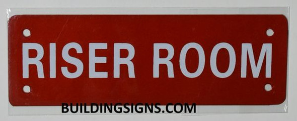 Riser Room SIGNAGE (Aluminium Reflective !!!, RED)