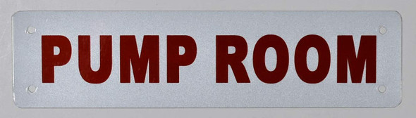 Pump Room SIGNAGE (White Reflective, Aluminium)