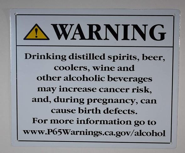 California Prop 65 Alcohol Warning Sign