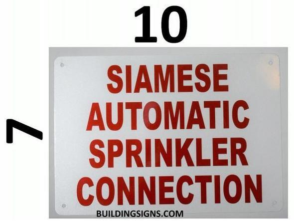 Sprinkler Siamese Signage