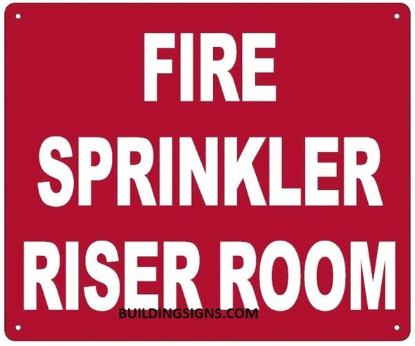 FIRE SPRINKLER RISER ROOM SIGN