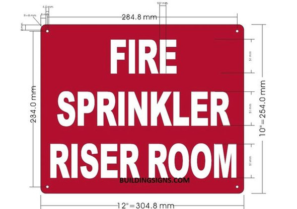 FIRE SPRINKLER RISER ROOM SIGN for Building