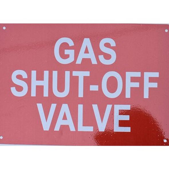 Gas Shut-Off Valve Sign
