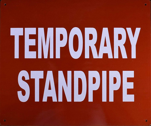 Temporary Standpipe Signage