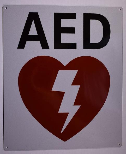 Automated External Defibrillator Sign
