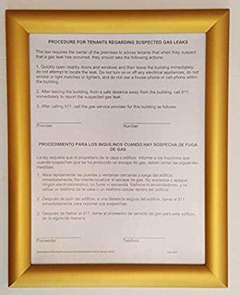 HPD Gas Leak Sign