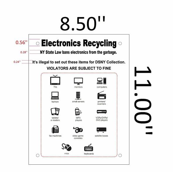 HPD-NYC Electronics Recycling Sign