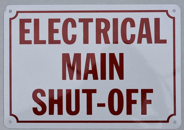 Electrical Main Shut Off Sign