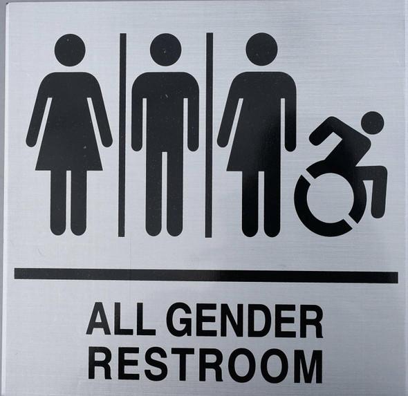 NYC All Gender Restroom Sign