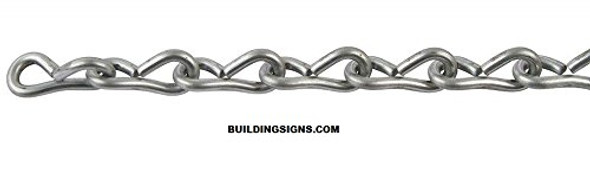 16 Single Jack Chain, Bright Galvanized