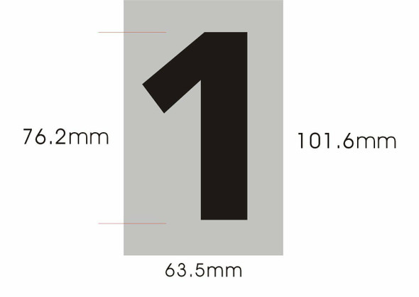 partment Number Sign- one (1) (Brush Aluminium
