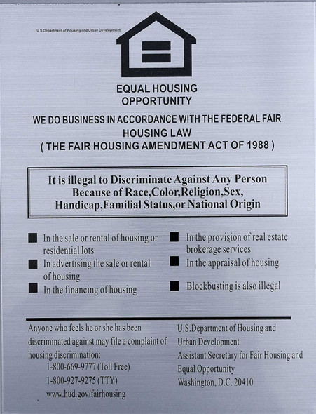 Equal HOUSING Opportunity Sign