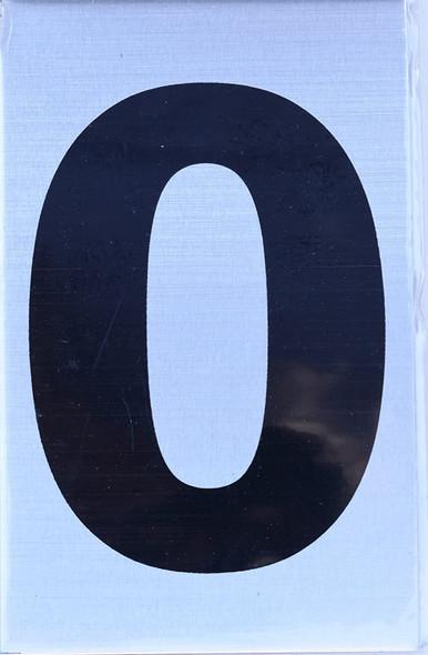 Apartment Number Sign  - Zero (0)