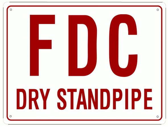 FDC Dry Standpipe Signage Signage