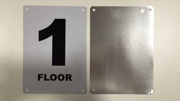Floor number 1 Signage