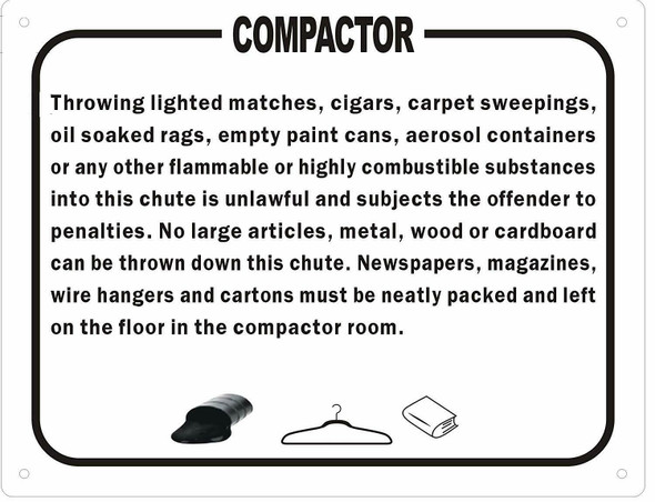 Compactor Rules Sign