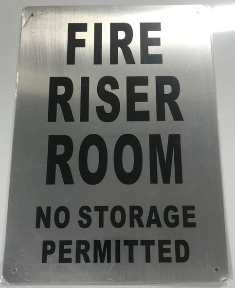 FIRE RISER ROOM Sign