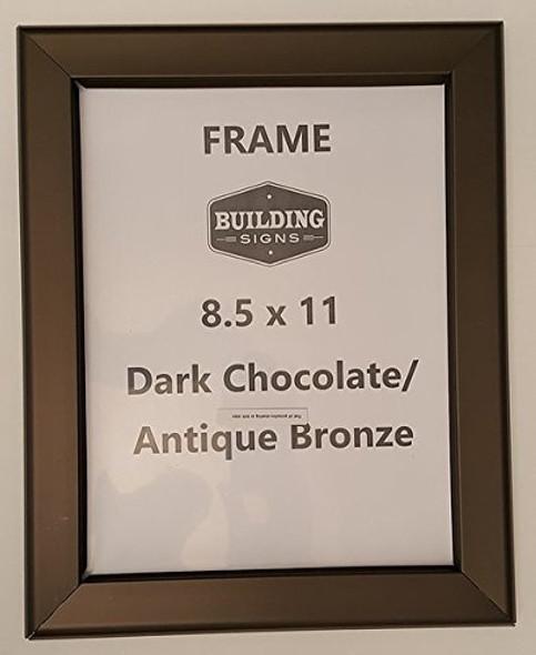 DARK CHOCOLATE / ANTIQUE BRONZE Snap Frame