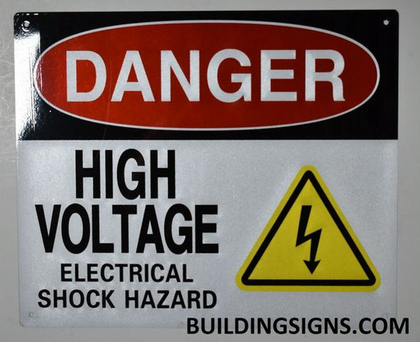 Danger HIGH Voltage -Electrical Shock Hazard