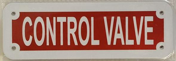 CONTROL VALVE SIGN