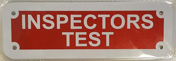 Inspectors Test Sign