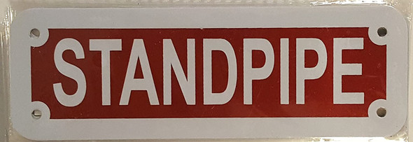 STANDPIPE SIGN RED