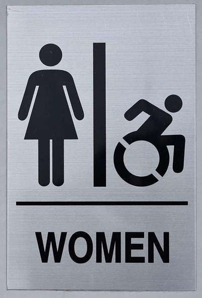 NYC Women ACCESSIBLE Restroom Sign -Tactile Signs  Braille sign