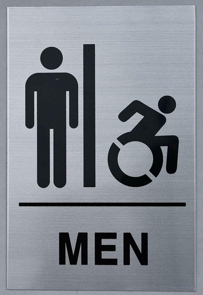 Men Restroom - Sign. Tactile Signs  Braille sign