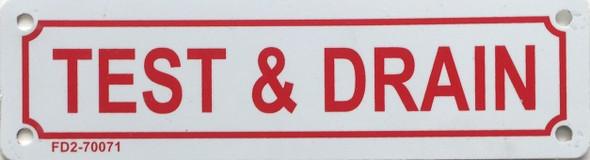 TEST & Drain SIGN