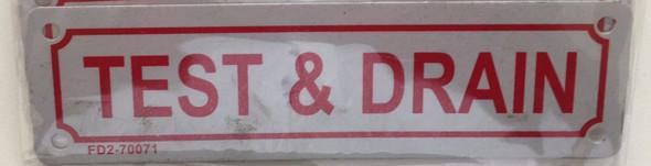 TEST & Drain Signage
