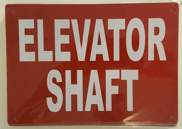 ELEVATOR SHAFT SIGNAGE (Aluminium Reflective SIGNAGEs, RED )