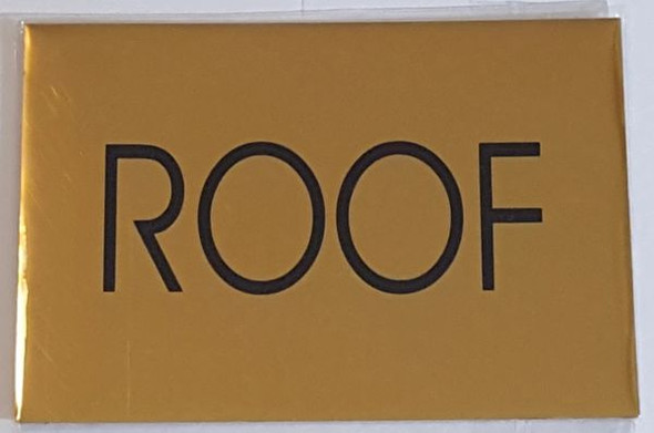 ROOF SIGN Gold