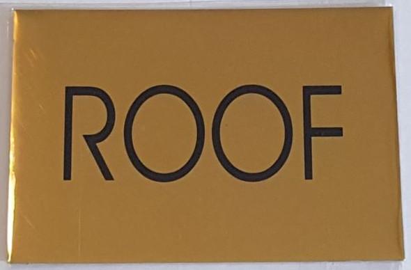 FLOOR NUMBER ROOF   BUILDING SIGN