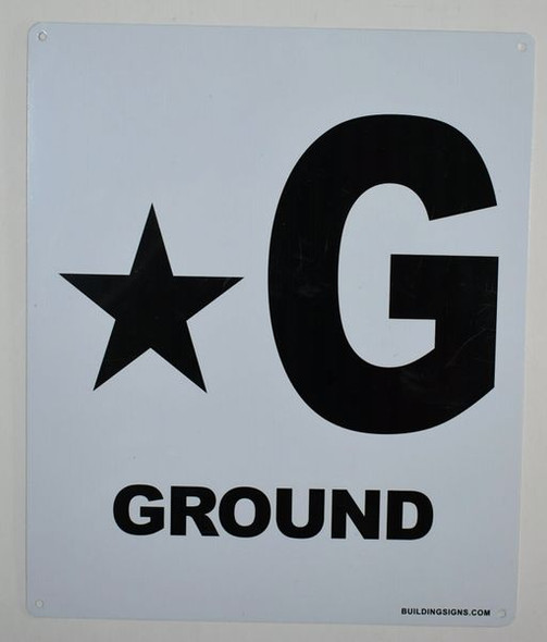 Star Ground Floor Sign