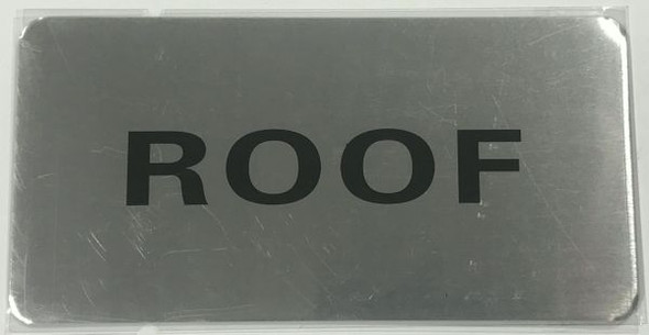 FLOOR NUMBER SIGN - ROOF SIGN - BRUSHED ALUMINUM ()- The Mont Argent Line