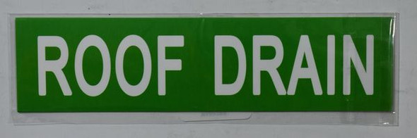ROOF DRAIN Dob SIGN