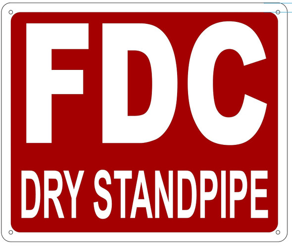FDC DRY STANDPIPE Sign -
