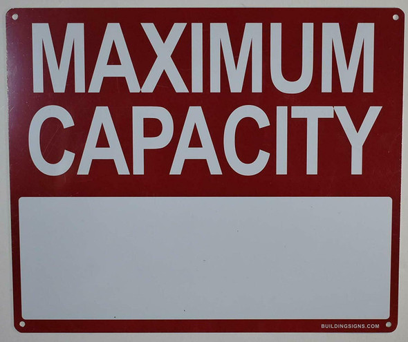 SIGN Maximum Capacity