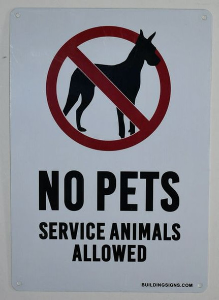 No Pets Service Animals Allowed Signage