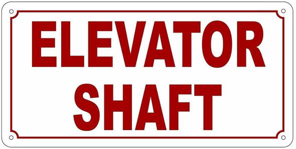 Elevator Shaft Sign (White,Reflective, Aluminium )