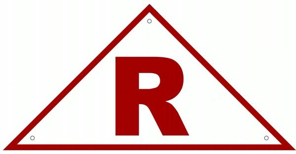 ROOF TRUSS IDENTIFICATION SIGN- REFLECTIVE !!! (ALUMINUM SIGNS ) WHITE