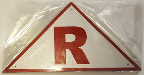 ROOF TRUSS IDENTIFICATION SIGNAGE- REFLECTIVE !!! (ALUMINUM SIGNAGES ) WHITE