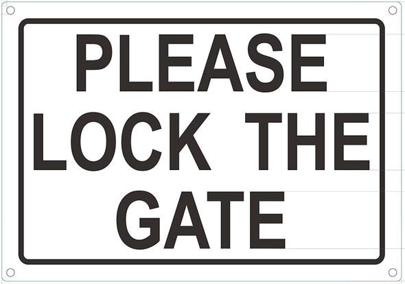 Please Lock GATE Sign