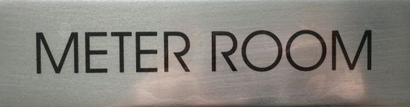 METER ROOM SIGN- BRUSHED ALUMINUM