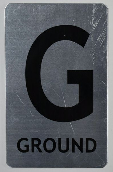 Ground Floor Number Sign