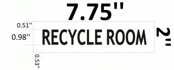 RECYCLE ROOM SIGN for Building