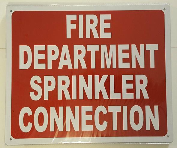 FIRE DEPARTMENT SPRINKLER CONNECTION Signage