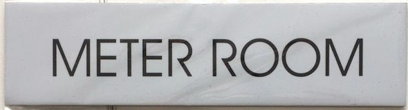 METER ROOM SIGN - PURE WHITE
